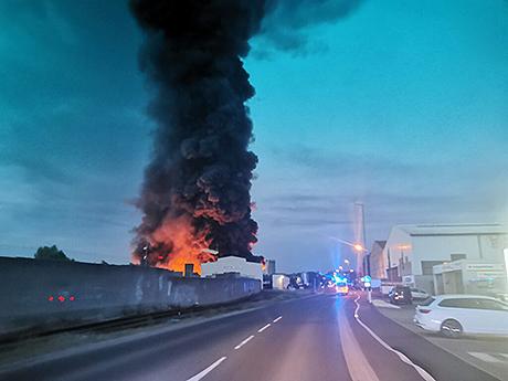 Großbrand in Diez